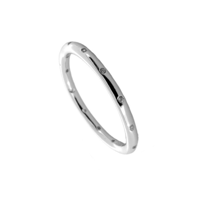 Anillo Misty Silver White
