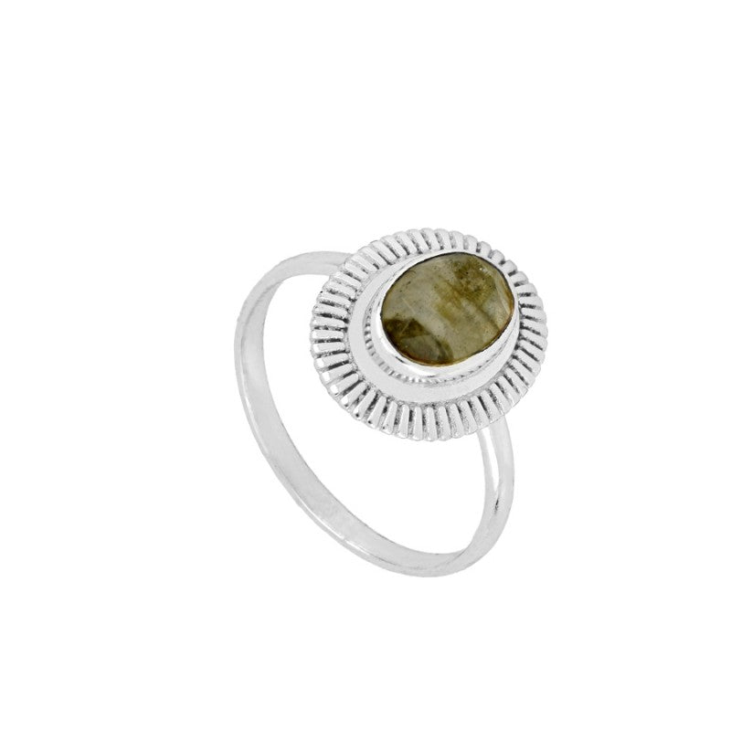 Anillo Lina Gold White