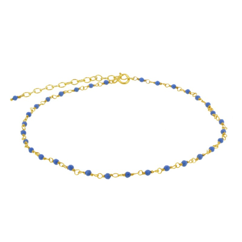 Tobillera Point Blue Gold