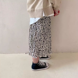 MAMA and ME Eliza Leopard Print Midi Skirt