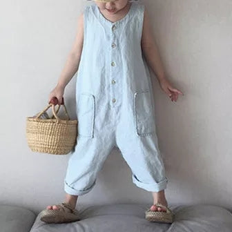 MAMA and CHILD Unisex Oversized Denim Overalls