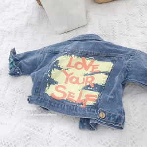 Love Yourself Denim Jacket