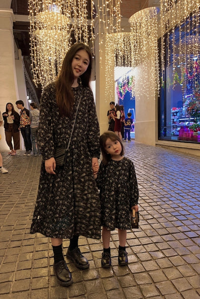 MAMA and Me Matching Floral Midi Dress