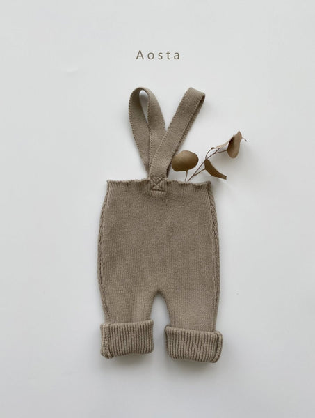 Aosta Knitted Leggings with Straps