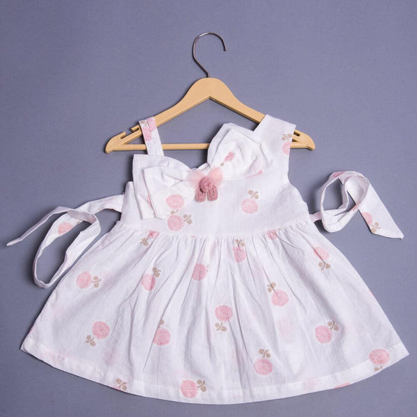 Girls Printed Bow-Detail Fit & Flare Dress