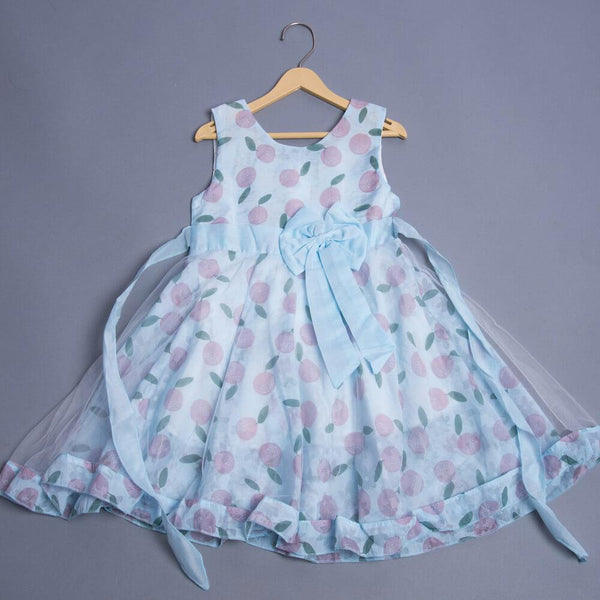 Girls Big Bow Sleeveless Dress