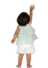Girls Polka Dot Peplum Top and Short Pants
