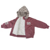 Girls Brown Hooded Padded Jacket