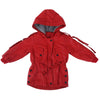 Girls Hooded Overcoat Jacket - Red