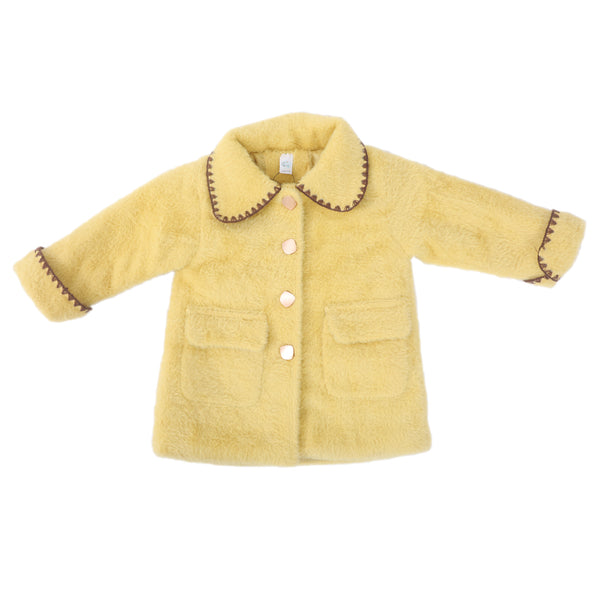 Full Sleeves Girls Winter Coat - Yellow, Pink