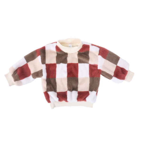 Kids Winter Warm Sweater-Checks