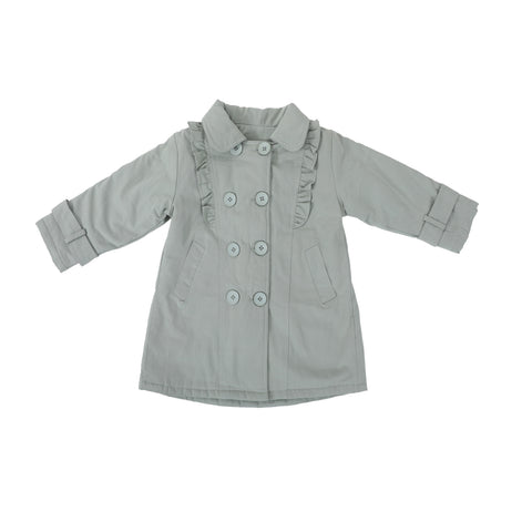 Solid Full Sleeves Coat- Grey