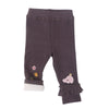 Kids Full Length Leggings With Flower & Fish Motif