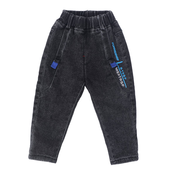 Boys Solid Denim Jeans