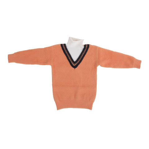 Kids Knitted V-Neck Sweater