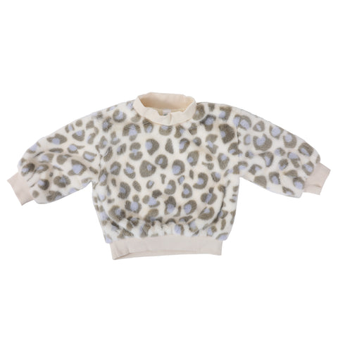 Woolen Tiger Print Fluffy Sweater