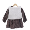 Girls Warm Winter Dotted Frock