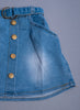 Girls Blue Denim Flared Skirt