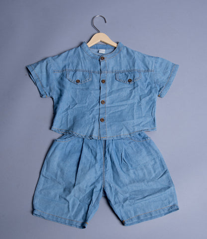Boys Denim Shirt with Shorts