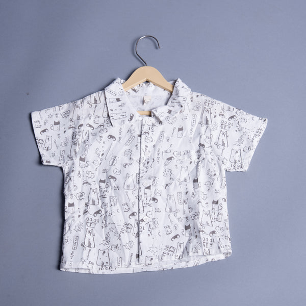 Boys Printed Half Shirt