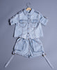 Boys Cool Denim Shirt with Shorts