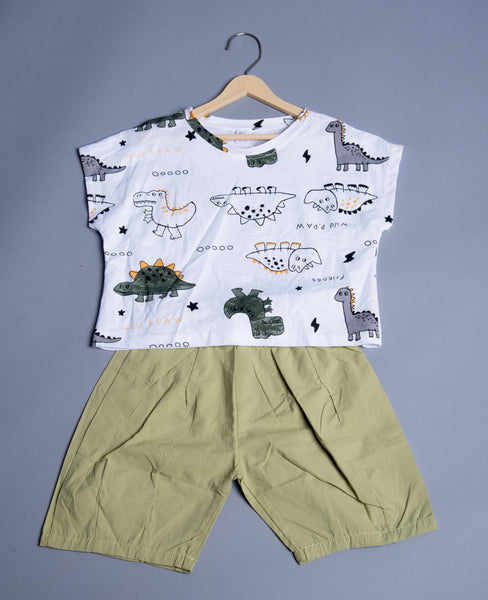 Boys Half-sleeves shirt with Shorts