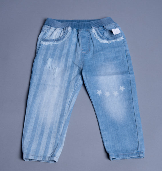Girls Faded Denim Jeans