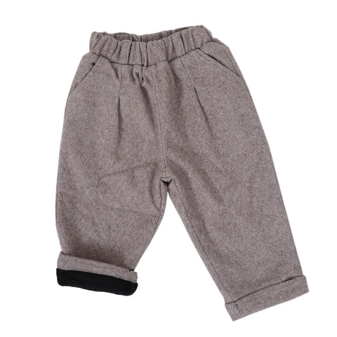 Girls Straight Woolen Pants