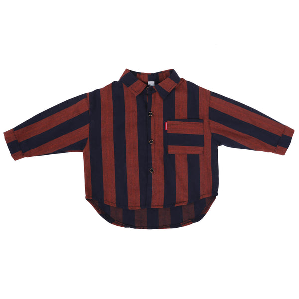 Boys Regular Fit Striped Casual Shirt