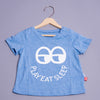 Boys Blue Round Neck Casual T-shirt