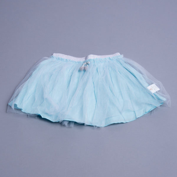 Girls Blue Mini Skirt