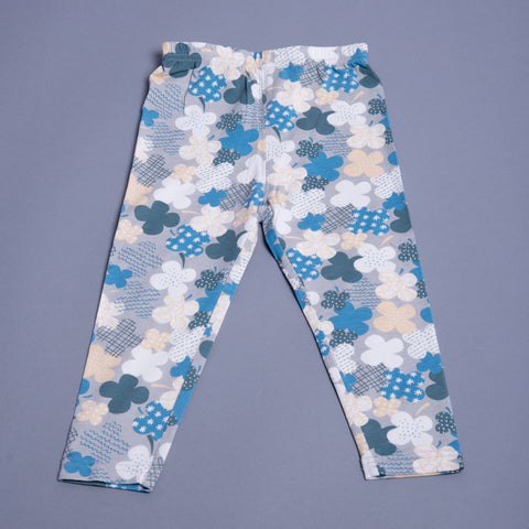 Girls Floral Print Leggings