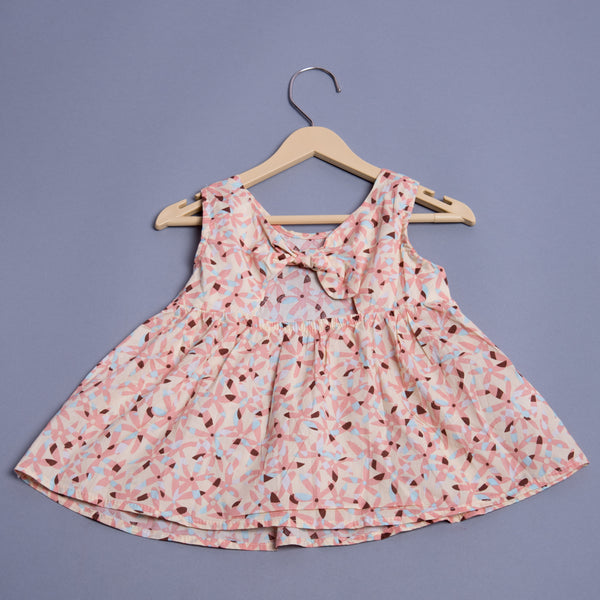 Girls Sleeveless Cotton Frock