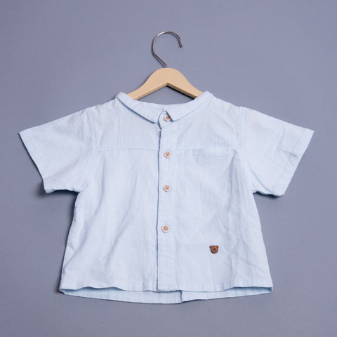 Boys Half Sleeves Solid Shirt