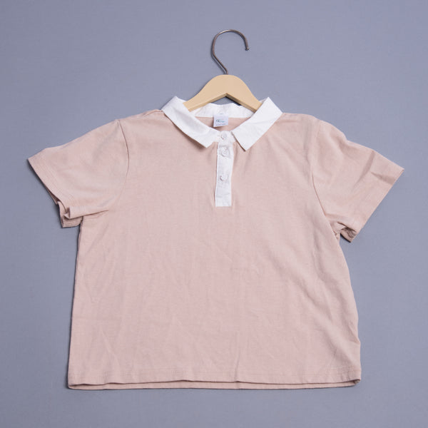 Boys Solid collar T-shirt