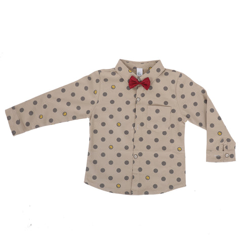 Boys Bow Embellished Shirt