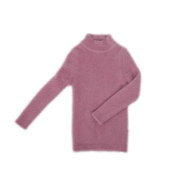 Girls High Neck Pullover