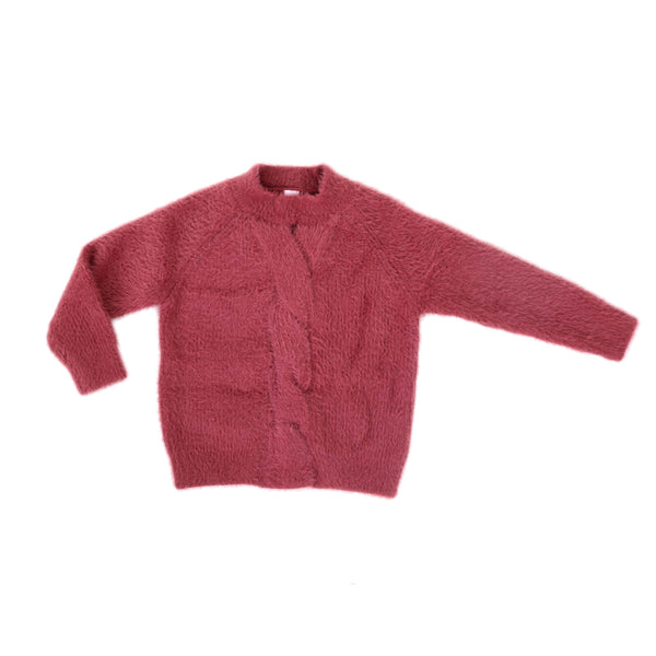 Girls Center-Knitted Soft Sweater