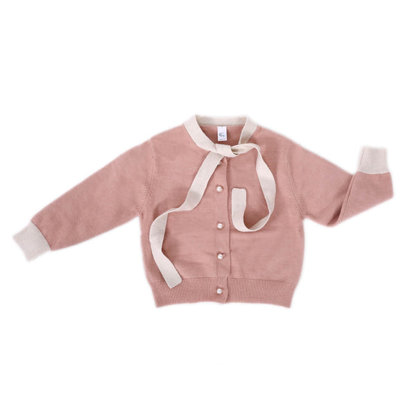 Girls Knot Pullover Embellished With Beads