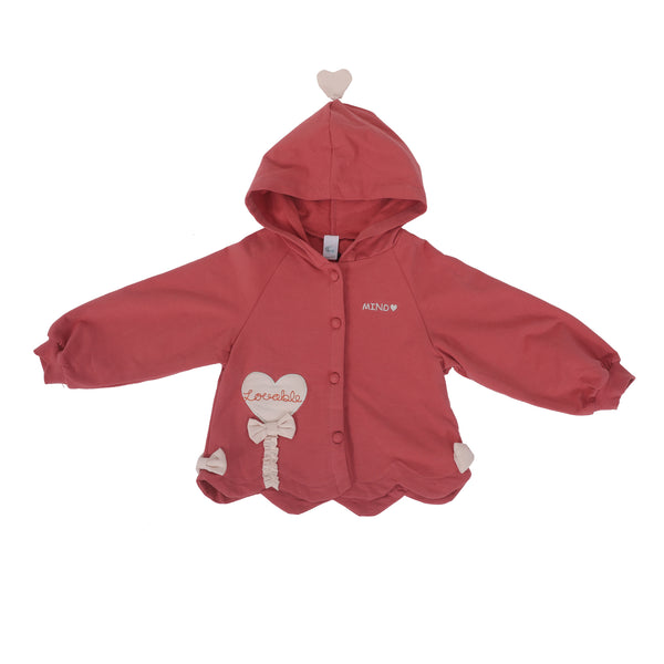 Girls Button-Up Hoodie