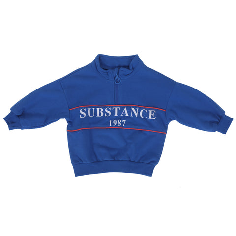 Boys Blue Round Neck Sweatshirt
