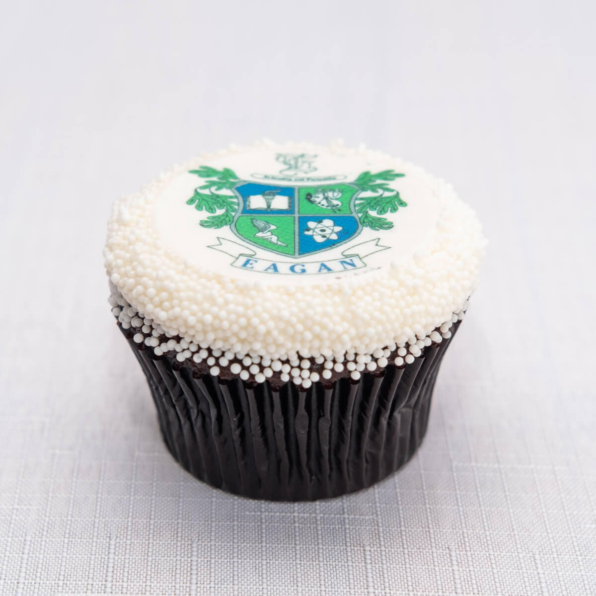 School Logo/Grad Photo Graduation Cupcake