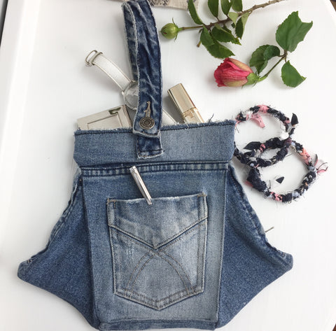 Upcycled Denim Clutch