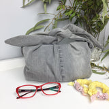 Grey Washed Denim Upcycle Clutch