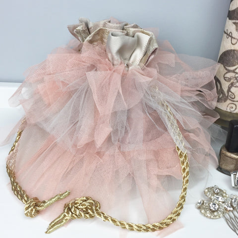 Tilly Tulle Drawstring Clutch
