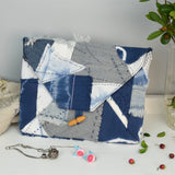 Denim Upcycle Patchwork Envelope Clutch