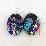 Sea Nightlife Large Oval Dangles