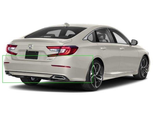 Honda Accord (2020) Rear Bumper