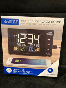 La Crosse Technology W88723 Multi-Color Alarm Clock with USB Charging Port