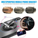Multi-purpose Car Air Vent Mobile Phone Finger Ring Universal Phone Holder Bracket 360 Rotatable Stand For Iphone Samsung Huawei